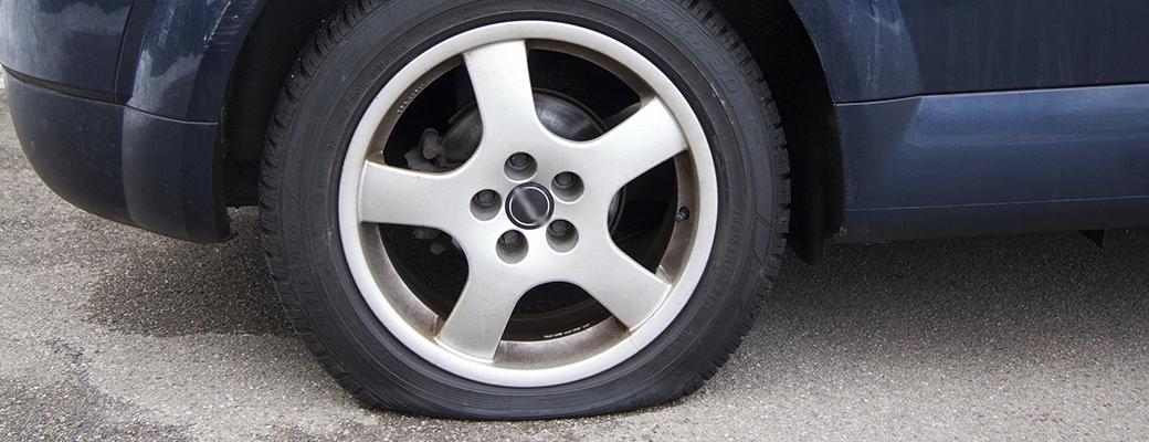 a flat tyre...
